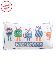 Kids 14x24 Monster Line Up Pillow