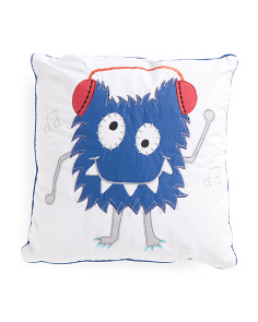 Kids 20x20 Headphone Monster Pillow