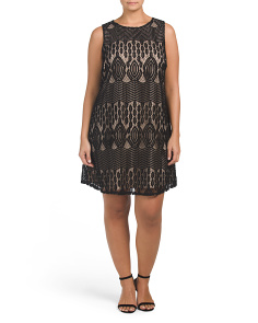 Plus Brianna Lined Lace Dress