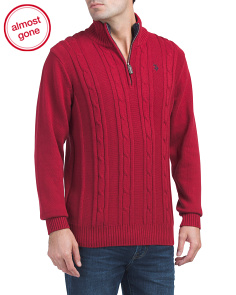 Quarter Zip Cable Sweater