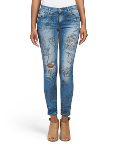 Made In USA Halle Skinny Cropped Jeans