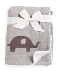 Kids Elephant Jersey Throw