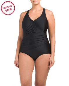 Plus Solid One-piece Swimsuit
