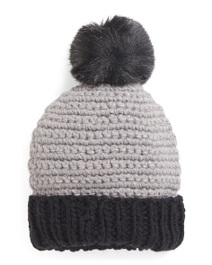 Color Block Knit Cuff Hat