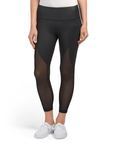 Capris With Mesh Panels