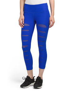 Front Slit Capris With Mesh