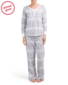 Packaged Fairisle Fleece Pajama Set