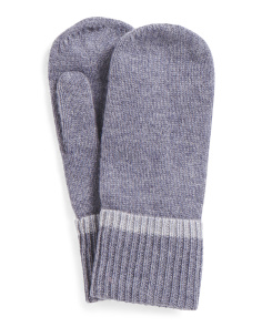Cashmere Mittens With Tipping