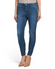 High Waist Comfort Fit Ankle Jeans
