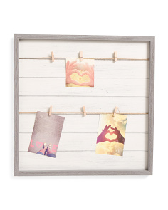 19x19 Photo Display With Clips