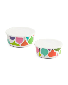 2pc Ornament Motif Storage Containers
