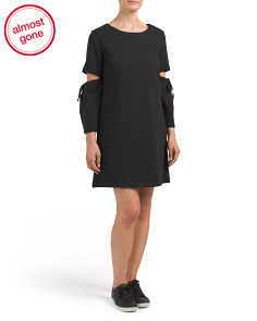 Slit Sleeve French Terry Dress