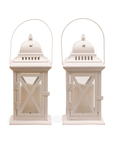 Set Of 2 12in Birdcage Lanterns