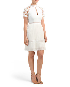 Made In Australia Lace Mix Dress