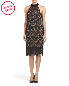 Made In Australia Lace Halter Dress