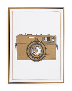 12x16 Vintage Camera Canvas Wall Art