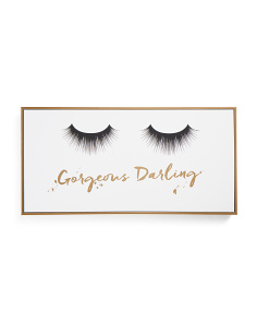 24x12 Lashes Framed Canvas Wall Art