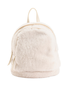 Made In Italy Shearling And Leather Backpack