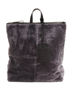 Made In Italy Wool Backpack