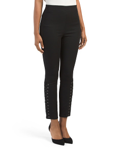 Lace Up Stretch Twill Pants