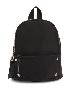 Mini Nylon Backpack With Stud