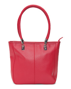 Dual Handle Leather Tote