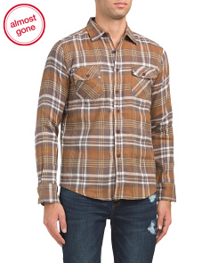 Brushed Flannel Plaid Shirt