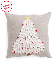 Made In India 18x18 Embroidered Tree Pillow