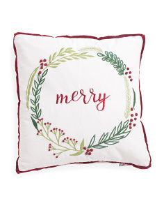 Made In India 20x20 Merry Pillow