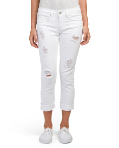 Juniors Crop Boyfriend Jeans