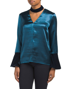 Sheldon Blouse With Velvet Choker