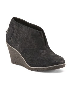 Harlow Brook Suede Wedge Booties
