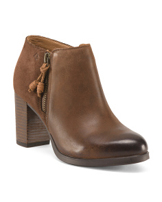 Dasher Leather Ankle Booties