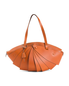 Made In Italy Leather Dome Tote