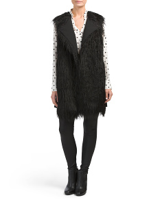 Nyma Sleeveless Faux Fur Coat