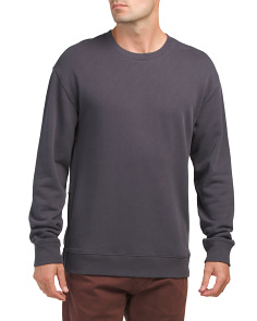 Side Zip Crew Neck Top