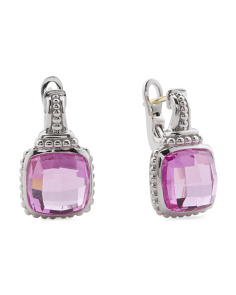 Sterling Silver Pink Corundum Legacy Collection Earrings