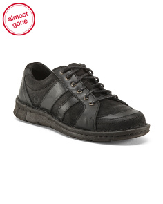 Lace Up Leather Casual Shoes