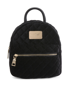 Maria Velvet Quilted Mini Backpack