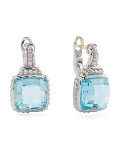 Sterling Silver Sky Blue Crystal Legacy Collection Earrings