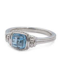 Sterling Silver Indigo Spinel Legacy Collection Ring