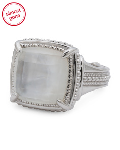 Sterling Silver Mother Of Pearl Doublet Legacy Ring