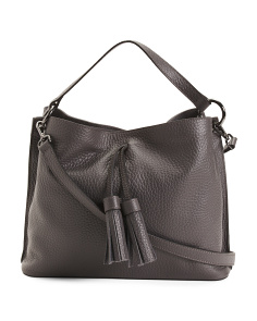 Made In Italy Leather Buffalo Hobo