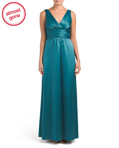 Sleeveless Charmeuse Gown