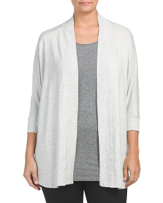 Plus Active Open Cardigan