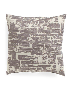 Made In USA 20x20 Stone Wall Pillow