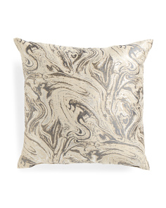Made In USA 22x22 Lava Metallic Pillow