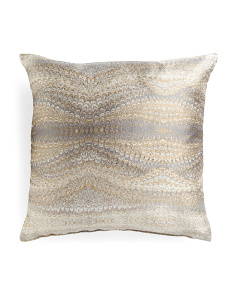Made In USA 22x22 Magma Metallic Pillow