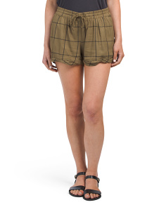 Juniors Amaranth Self Tie Shorts