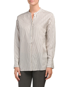 Striped Silk Tunic